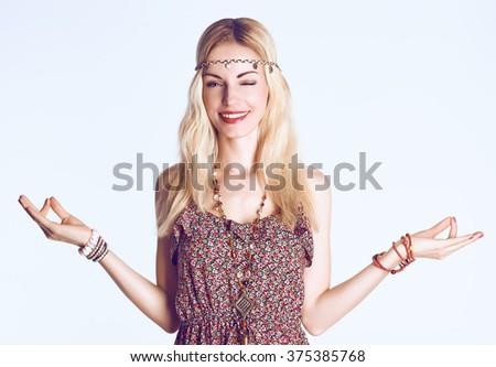 hippie woman stock images royaltyfree images  vectors