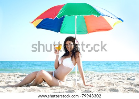 beauty woman in bikini at sea beach