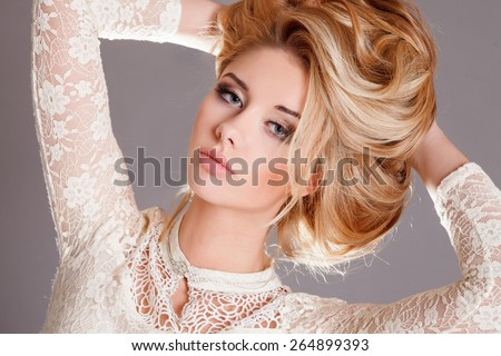 Blonde Girl Hairstyle : Hair studio stock images royalty free & vectors shutterstock
