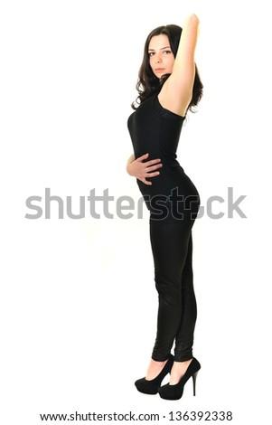 beauty woman portrait of teen girl - stock photo