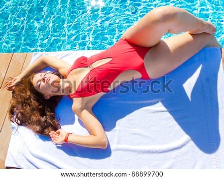 Beauty Woman Sun - stock photo