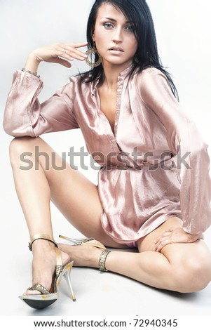 Beauty woman wearing wrapper - stock photo
