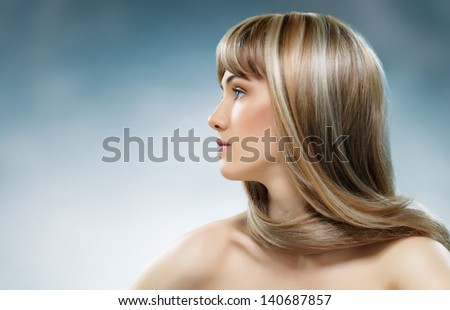 beauty woman with long hair