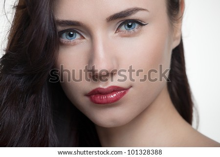 Beauty young model closeup beauty fashion shot - stock photo