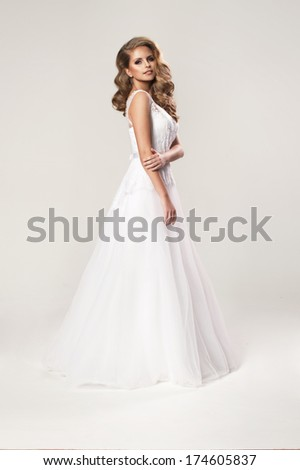 Beauty young woman in wedding dress