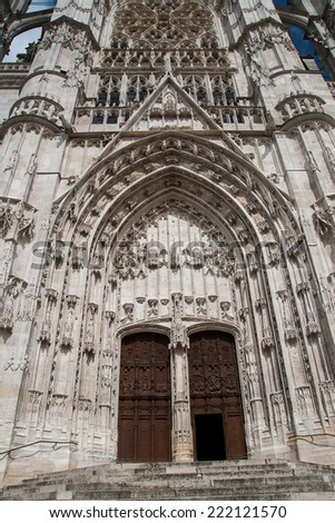BEAUVAIS, FRANCE - CIRCA SEPTEMBER 2014: The Cathedral of Saint Peter of Beauvais circa September 2014 in Beauvais.