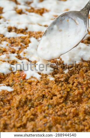 Bechamel Sauce Homemade Healthy Food - stock photo