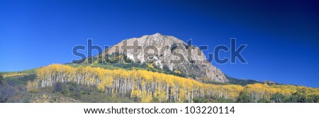 Beckwith Mountain at Kebler Pass in Gunnison National Forest, Colorado - stock photo