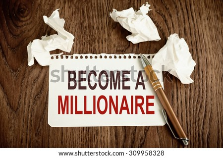 Become a Millionaire - stock photo