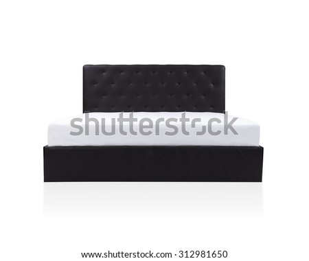 Bed and mattress to supported your back, the image isolated on white background - stock photo