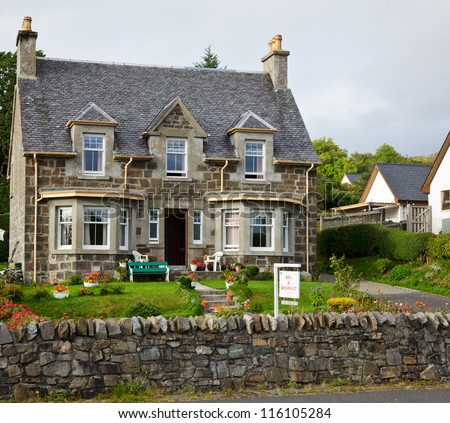 Bed & Breakfast  accommodation in England - stock photo