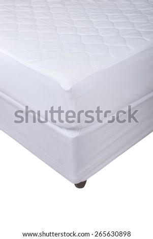 Bed corner isolated on white background - stock photo