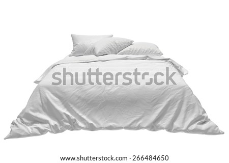 Bed front - stock photo