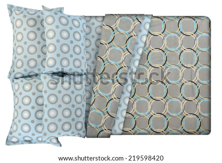 Bed isolated against white background. - stock photo