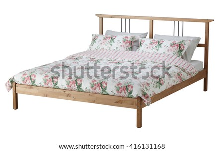 Bed isolated on white include clipping path