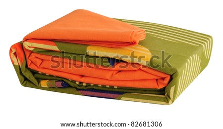 Bed sheets. Isolated - stock photo