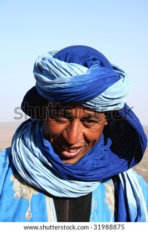 bedouin in morocco - stock photo