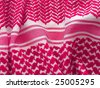 Bedouin Keffiyeh pattern closeup. More of this motif in my port. - stock photo
