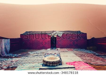 Bedouin nomad tent c& Erg Chebbi Morocco Sahara Morocco & Bedouin Tent Stock Images Royalty-Free Images u0026 Vectors ...