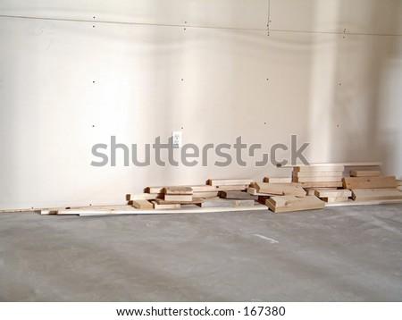 Bedroom being built. - stock photo