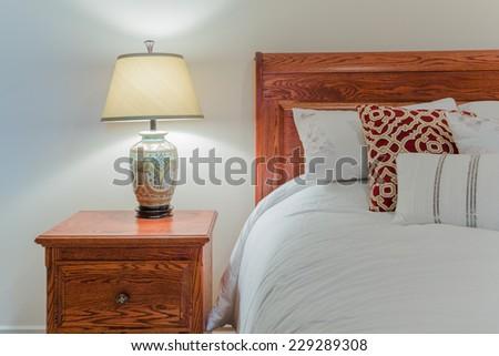 Bedroom classic interior design - stock photo