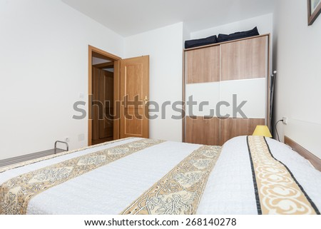 bedroom in an apartment
