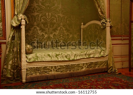 Bedroom in palace - stock photo