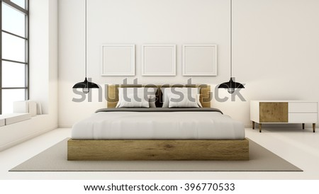 Bedroom Interior Design Modern U0026 Loft   3D Render