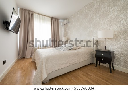 Bedroom interior in luxury apartment