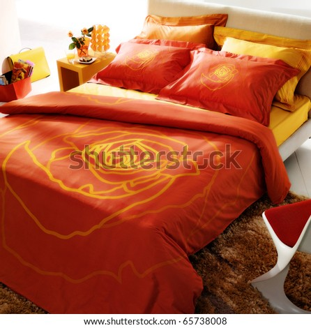 bedroom interiors - stock photo