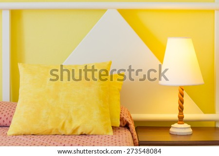 Bedroom modern design with furnishings  - stock photo