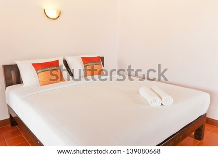 Bedroom on holiday in Thailand - stock photo