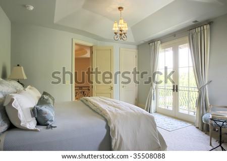 Bedroom with French Door Balcony