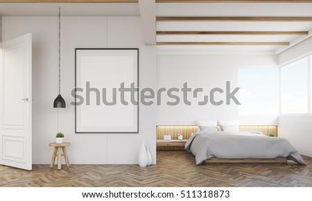 Bedroom Sofa Framed Poster Above Bed Stock Illustration 511318873 ...
