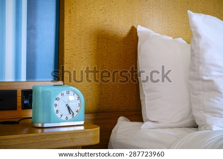 Bedside table - stock photo