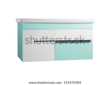 Bedside-table isolated on white