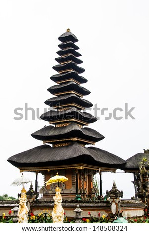 Bedugal temple , lake Braton Bali Indonesia - stock photo