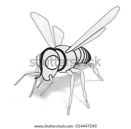 bee 3d drawing
