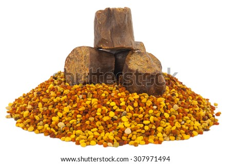 Bee pollen and propolis - stock photo
