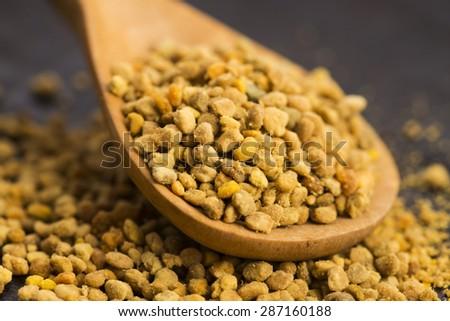 Bee pollen closeup - stock photo