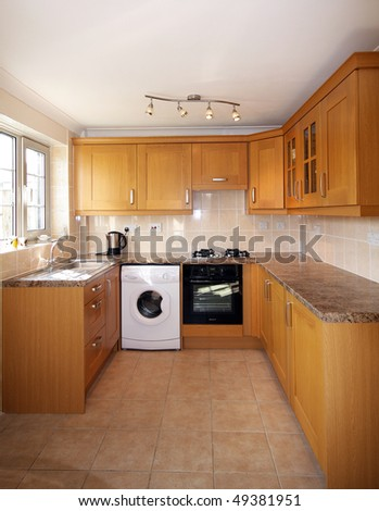 Beech kitchen units in UK home