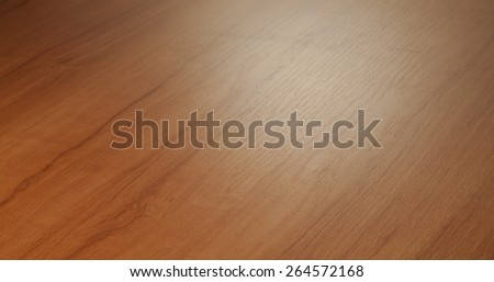 Beech wood desktop surface perspective blurred in the distance - stock photo