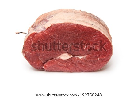 Beef Brisket meat uncooked isolated on a white studio background. - stock photo