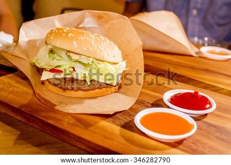 Beef burger - stock photo