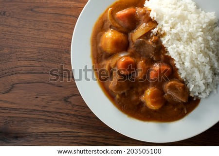 beef curry - stock photo