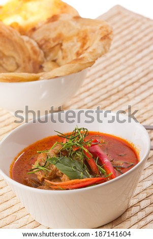 Beef curry spicy and puff. - stock photo