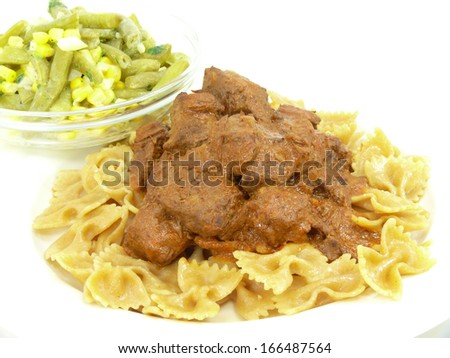 beef goulash and pasta