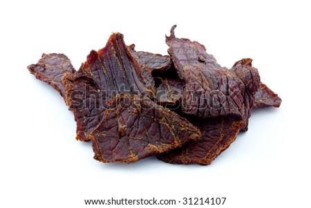 Beef jerky pieces - stock photo