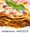 Beef lasagna - stock photo