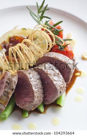 Beef medallions - stock photo